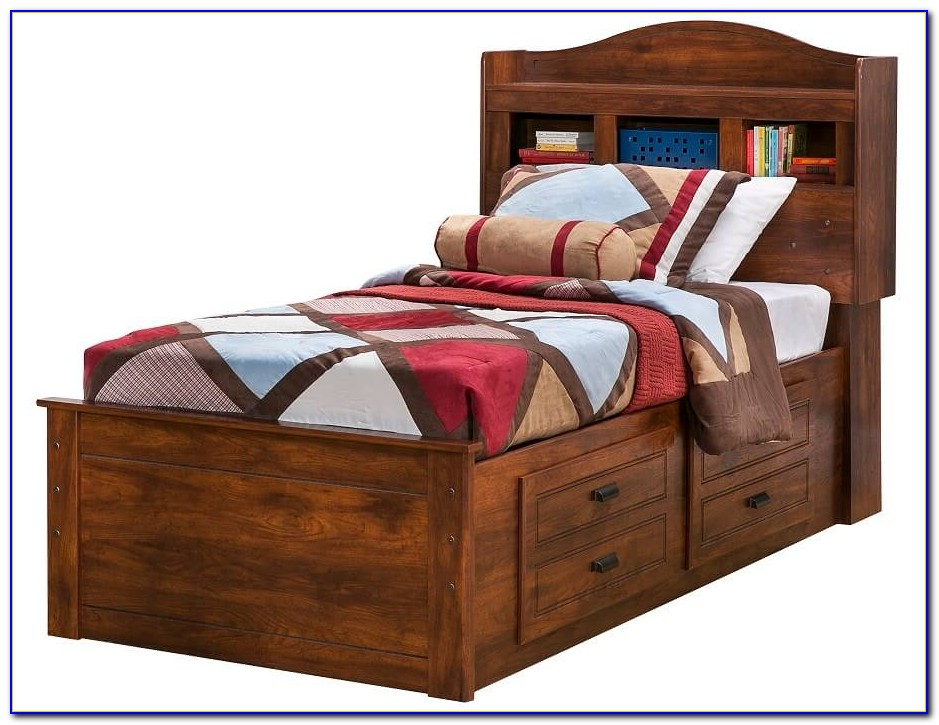 Captain's Bookcase Bed W Underbed Storage