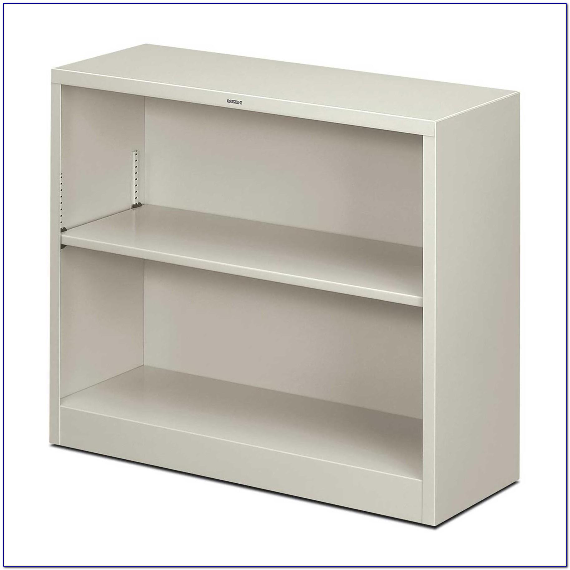 Carson Two Shelf Bookcase White