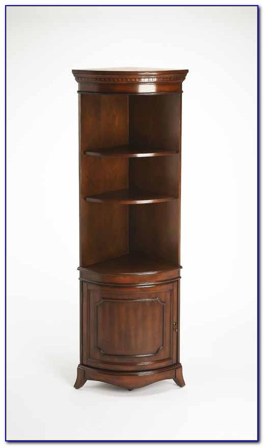 Cherry Wood Corner Bookcase