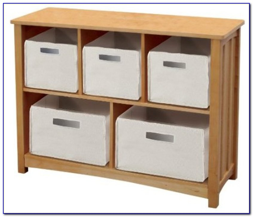 Children's Bookcase With Storage Bins