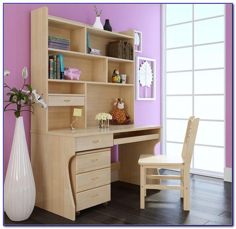 Computer Desk Bookcase Combination