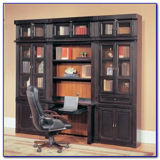 Computer Desk Shelves Above