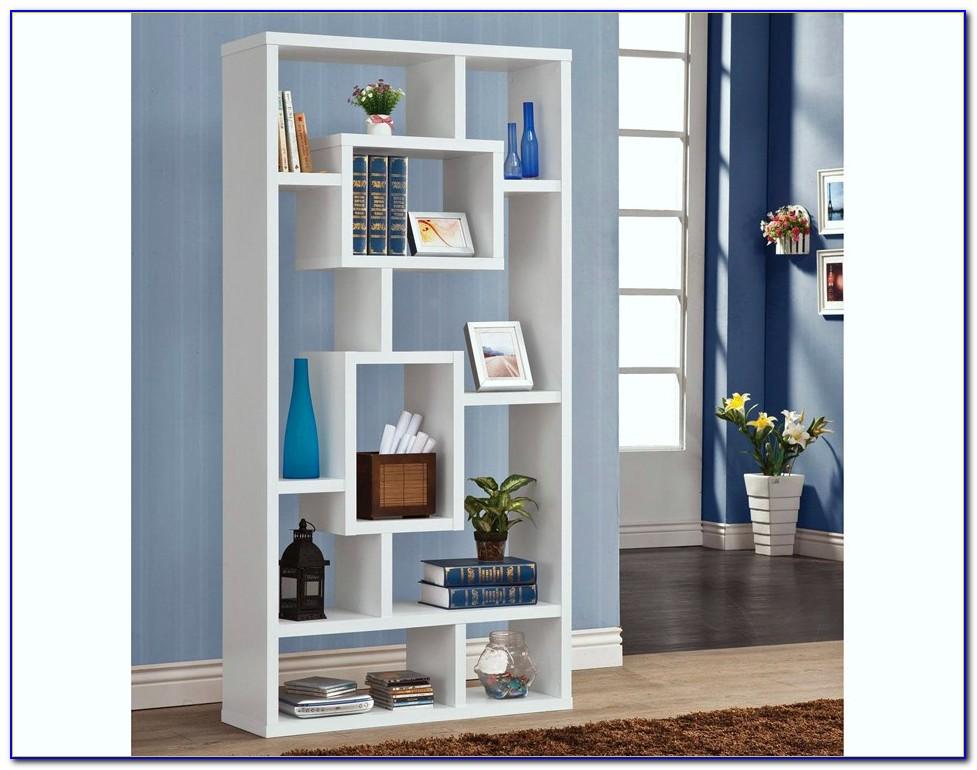 Contemporary White Bookcase Uk