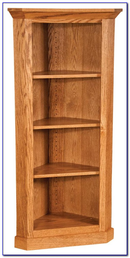Corner Bookcase Cherry Finish
