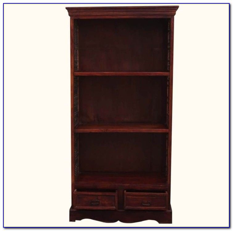 Corner Bookcase Solid Wood