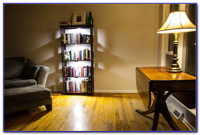 Corner Bookcase With Lights