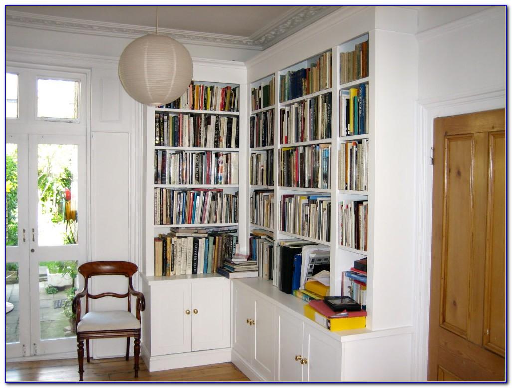 Corner Bookshelf Unit White