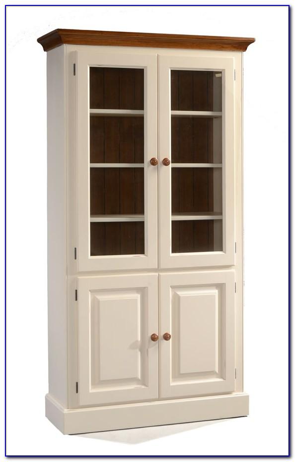 Cream Bookcase With Doors