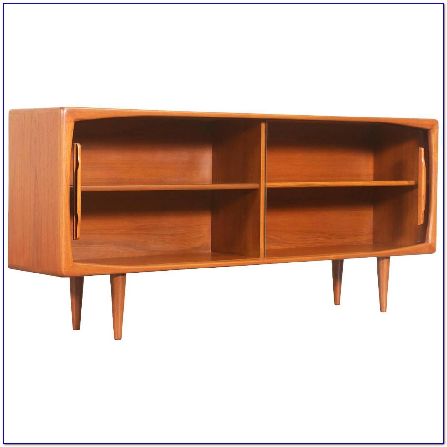 Danish Modern Bookcase Wall Unit