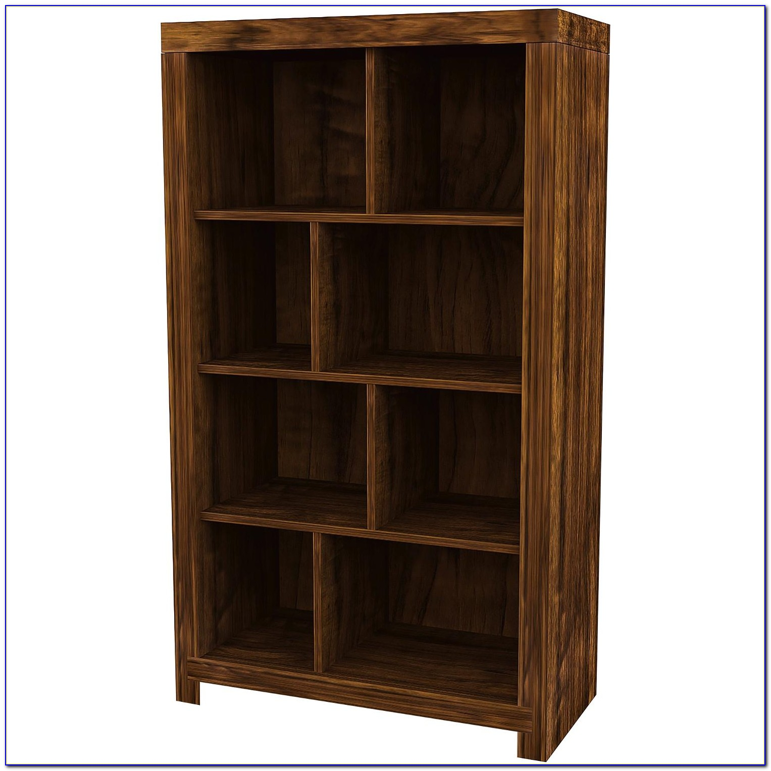 Dark Cherry Wood Bookcases