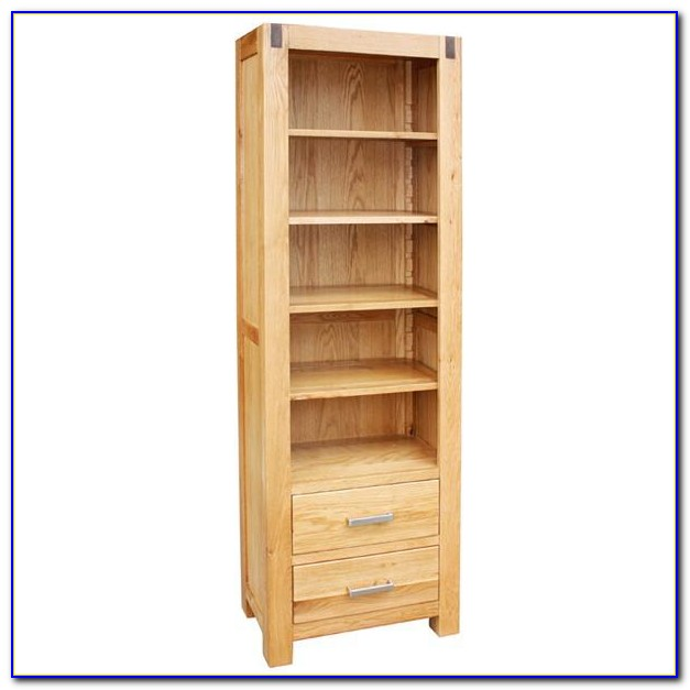 Dark Oak Wood Bookcase
