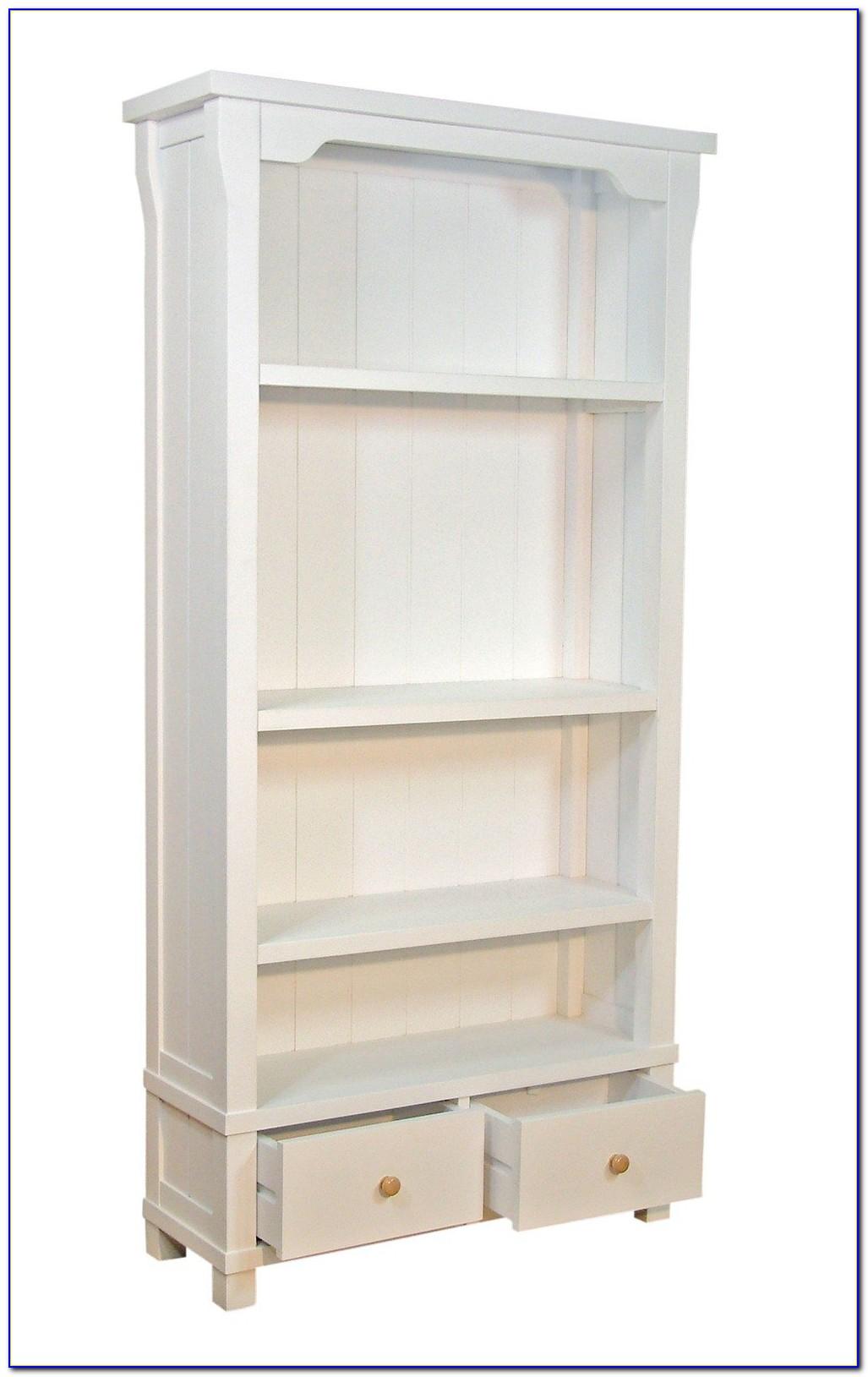 Davinci Roxanne 5 Shelf Wood Bookcase In White