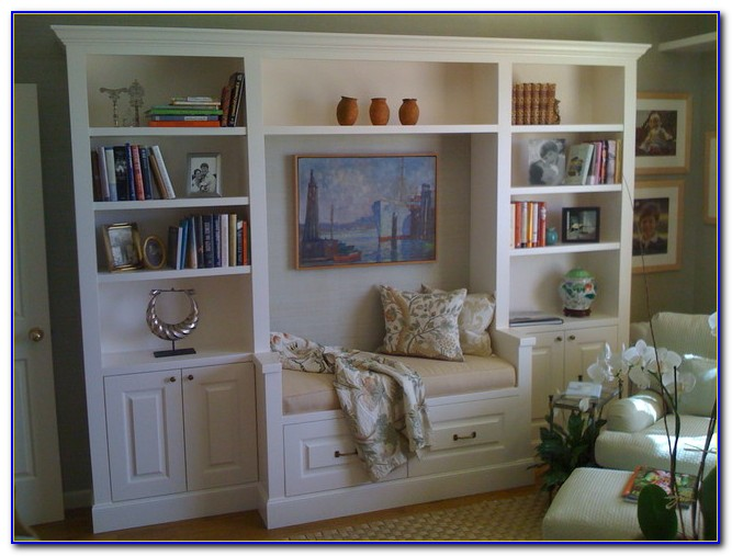 Diy Bookcase With Bench