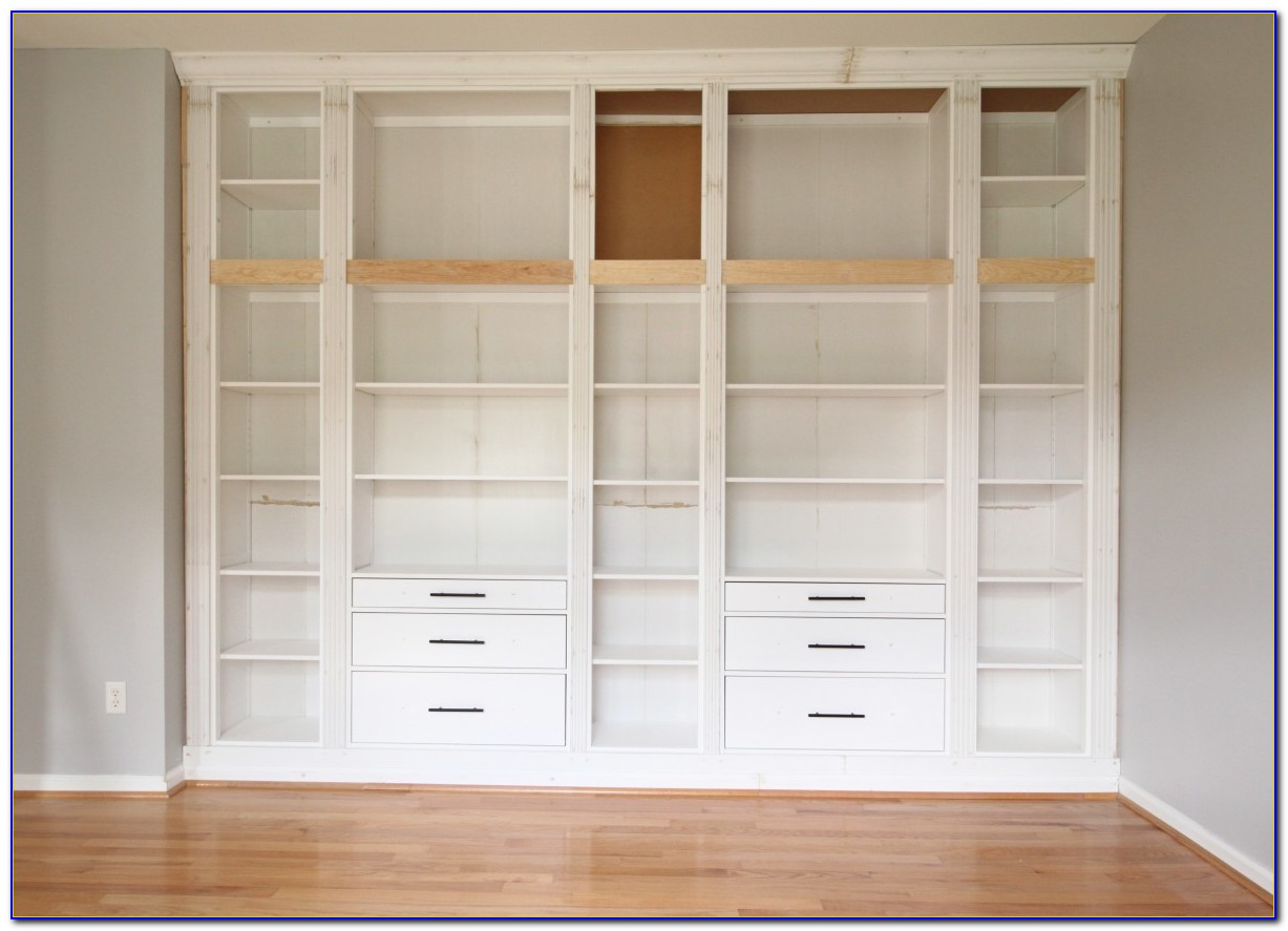 Diy Built In Bookcases Ikea