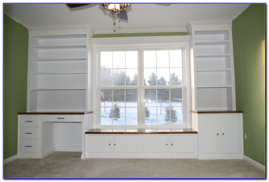 Dormer Window Seat Bookcase