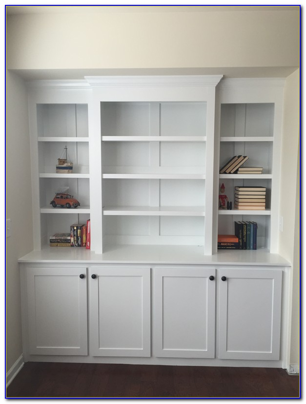 Double Bookcase With Lights