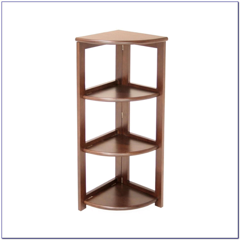 Folding Corner Bookshelf