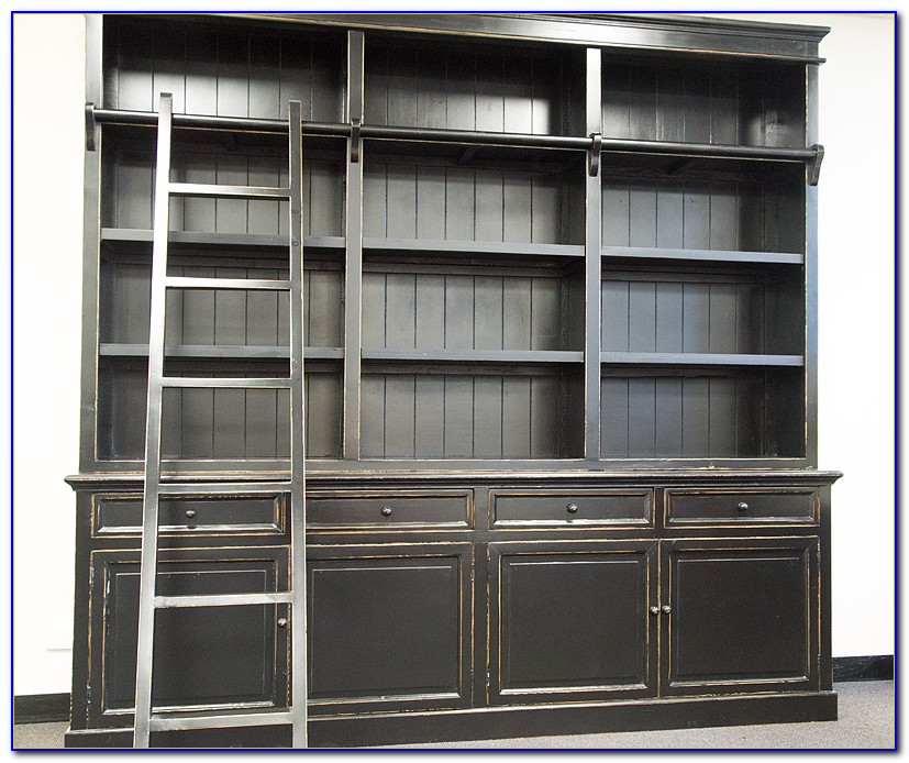 French Provincial Bookcase Black