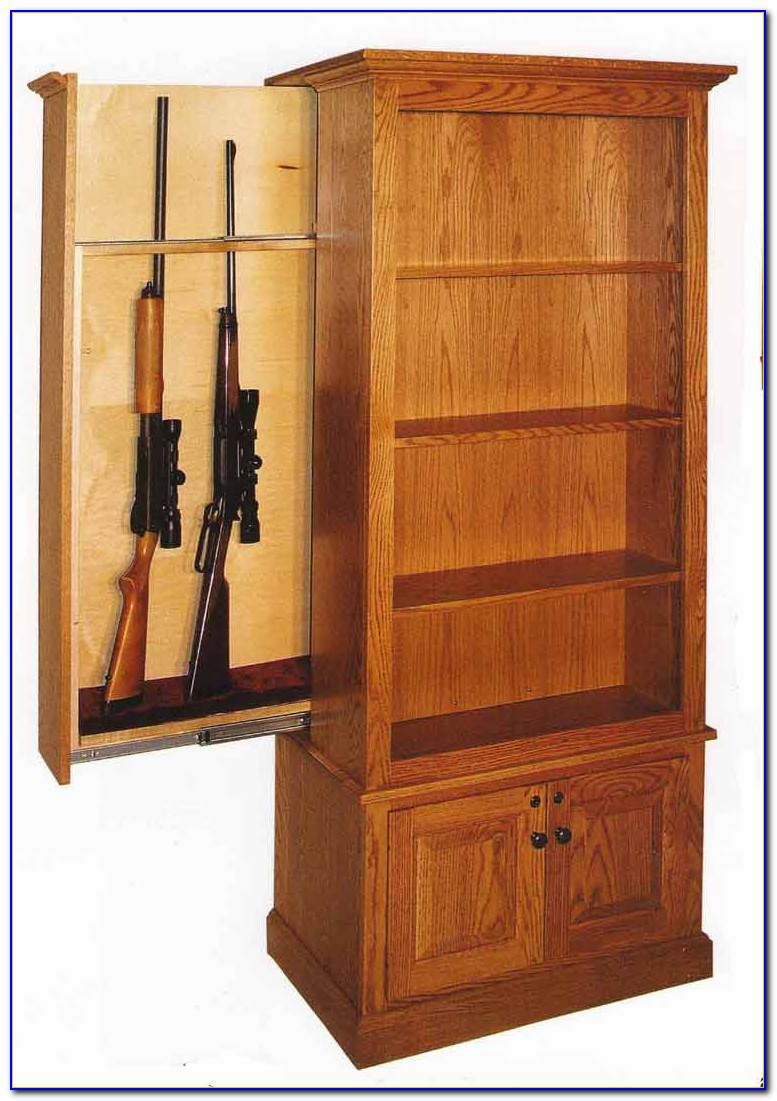 Hidden Gun Safe Bookcase