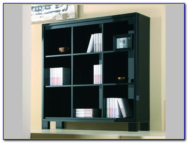 High Gloss Bookcase Black