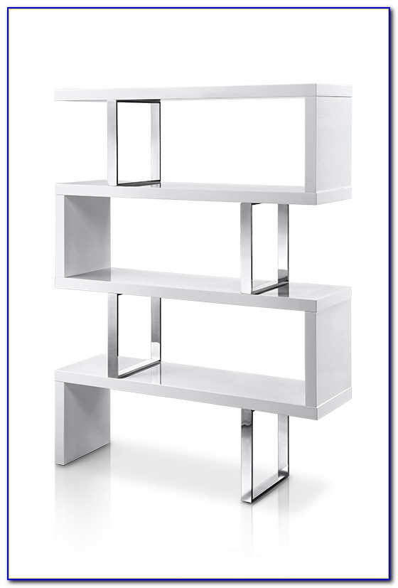 High Gloss Bookcase With Doors