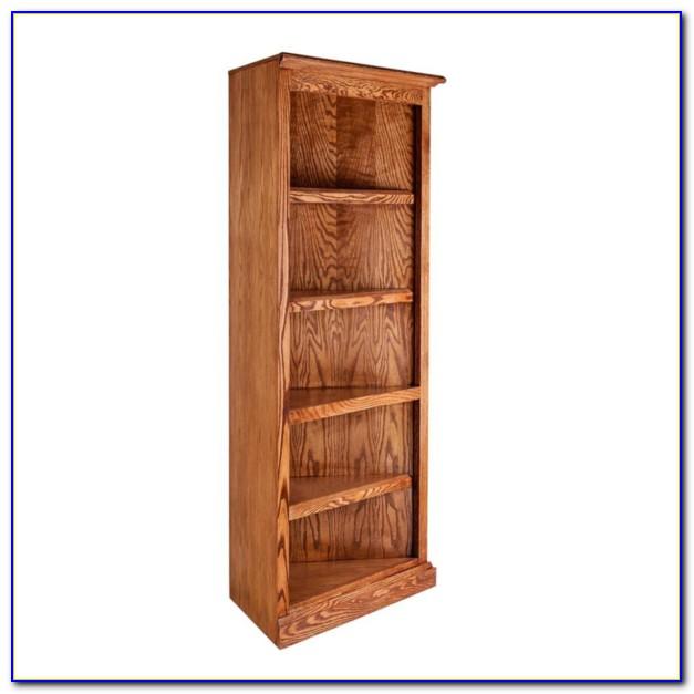 Honey Oak Corner Bookcase