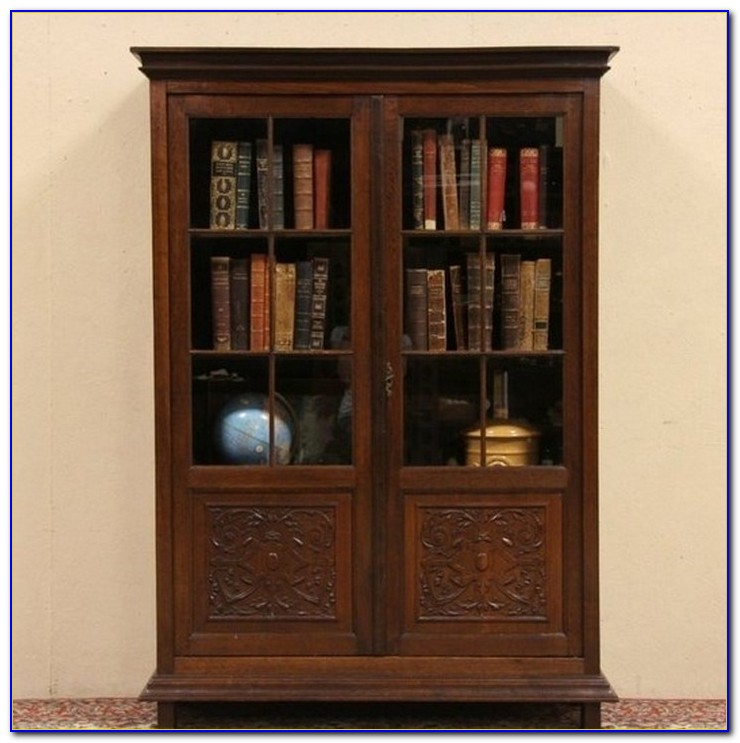 How To Build A Bookcase With Glass Doors