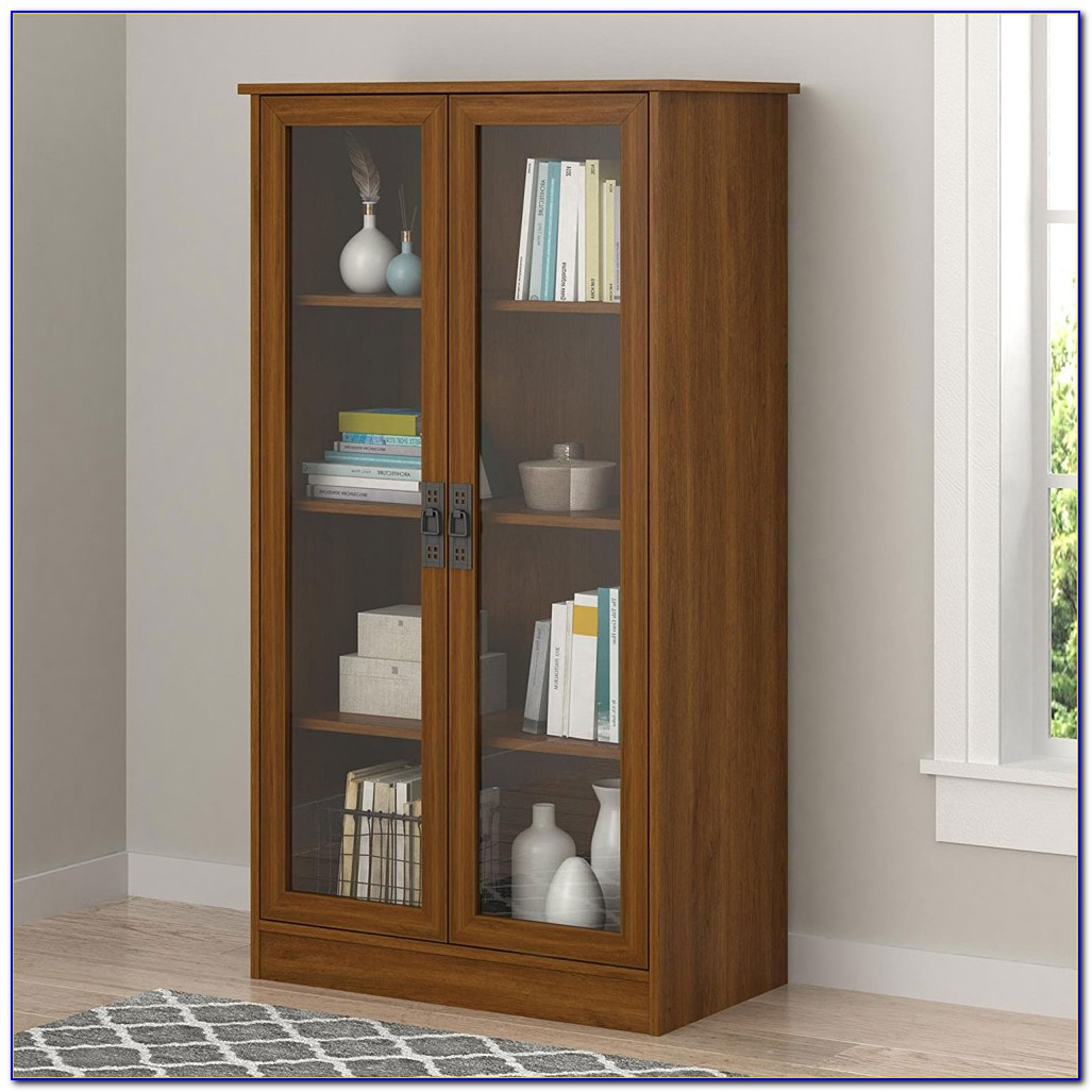 How To Build A Bookshelf With Glass Doors