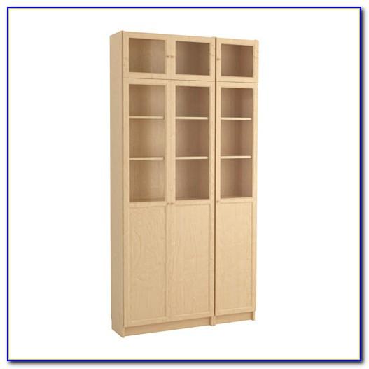 Ikea Billy Bookcase Birch Glass Door
