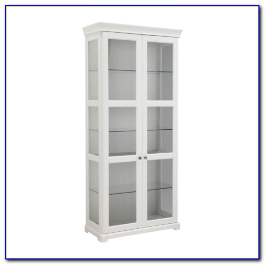 Ikea Hemnes Glass Bookcase