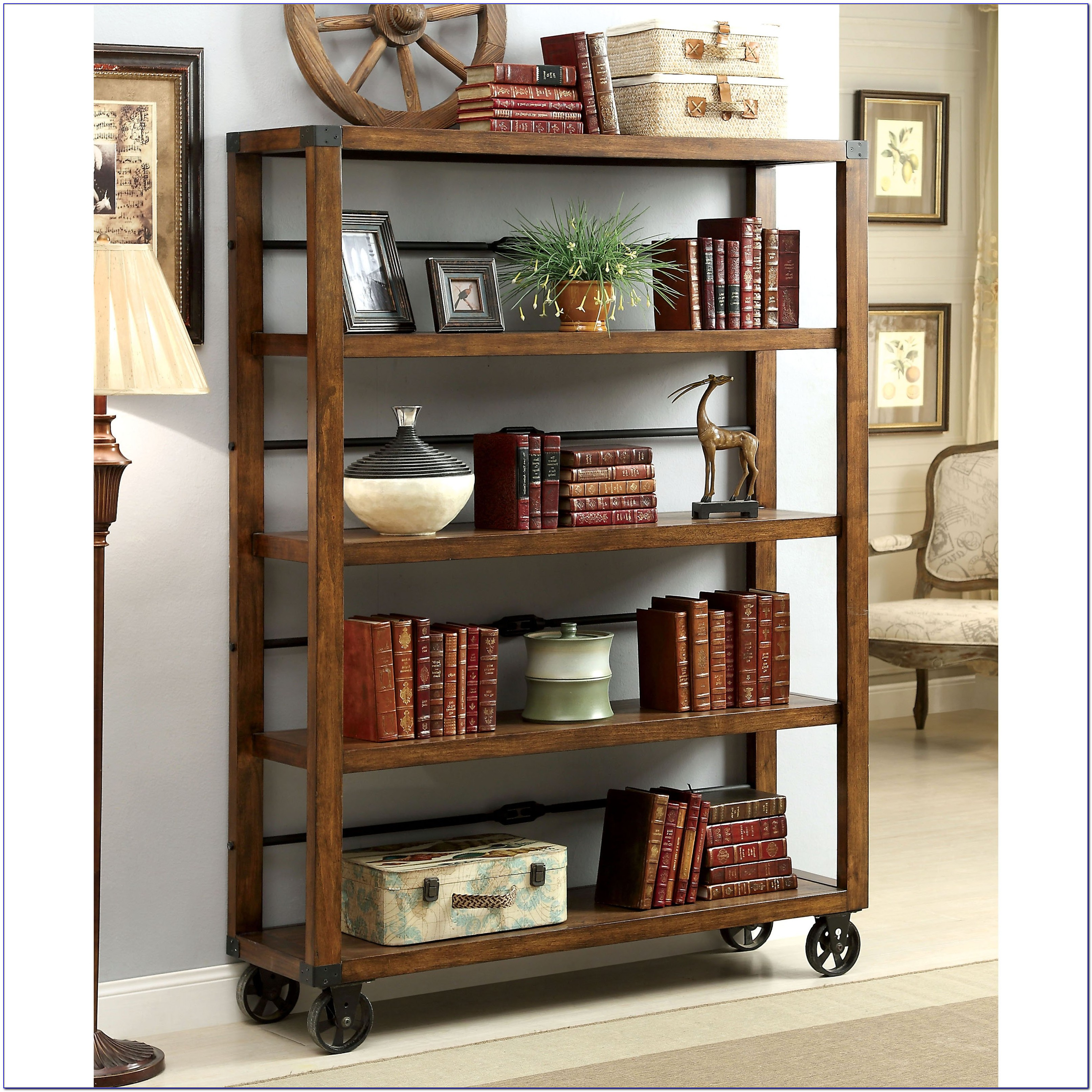 Industrial Bookcases On Wheels