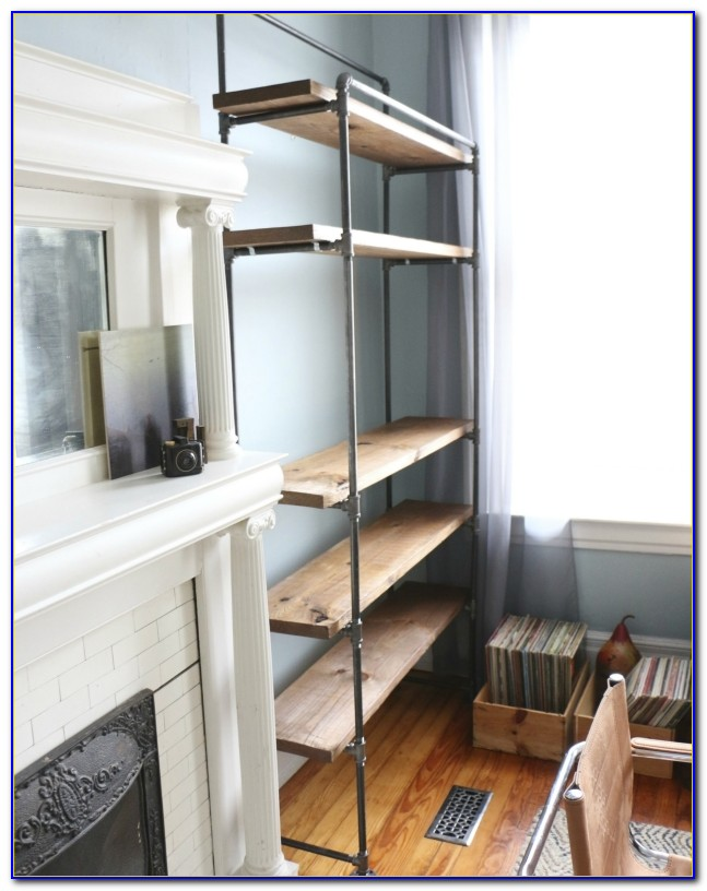 Industrial Pipe Bookshelf Diy