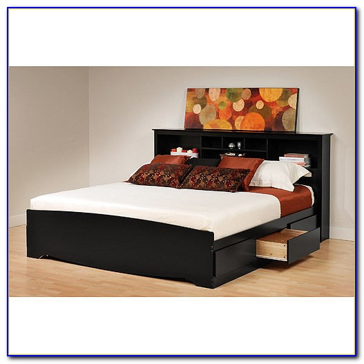 King Size Bookcase Bed Frame
