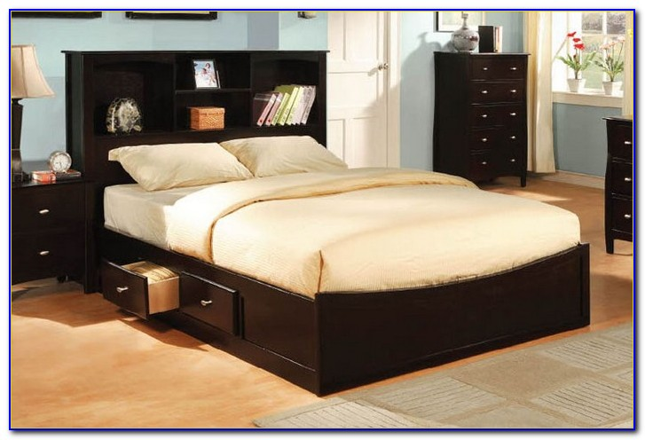King Size Bookcase Chest Bed