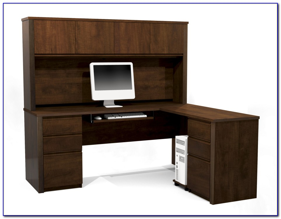 L Shaped Desk With Bookshelves
