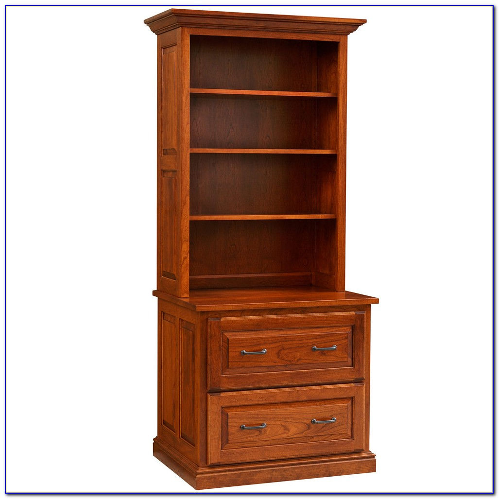 Lateral File With Bookcase Hutch