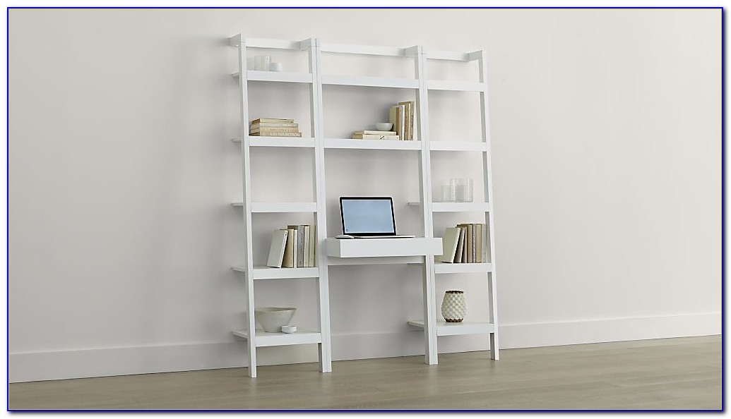 Leaning Bookcase Computer Desk