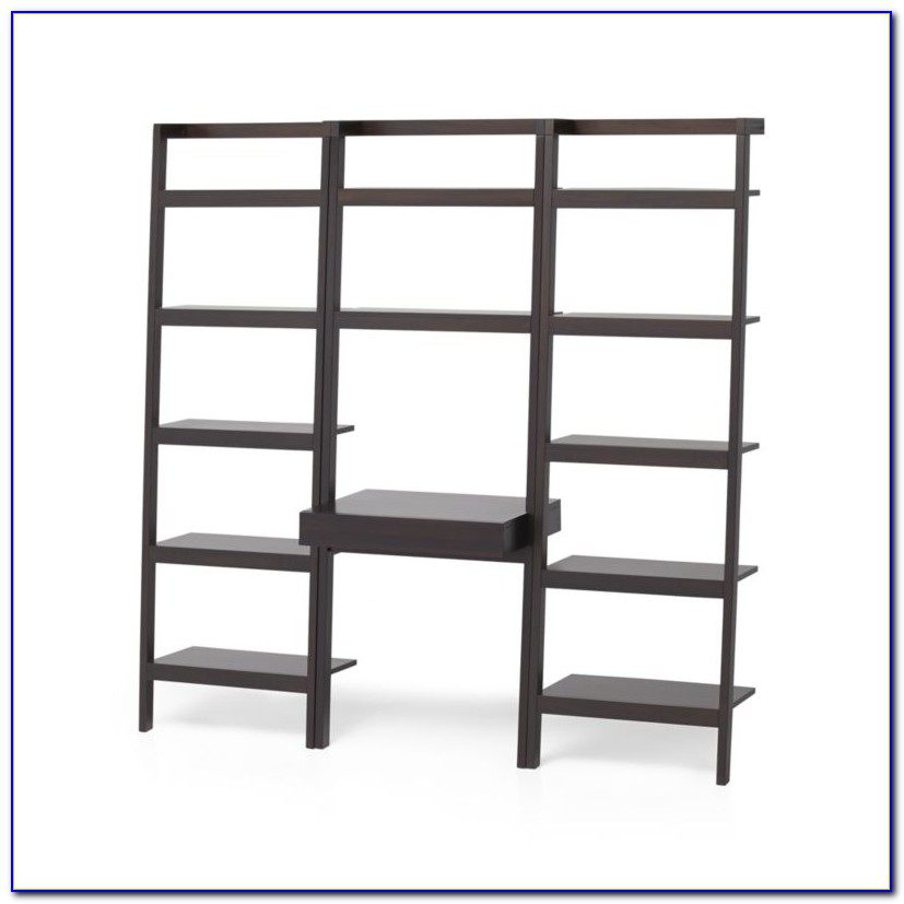 Leaning Desk Bookcase Set