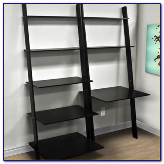Leaning Desk Shelves