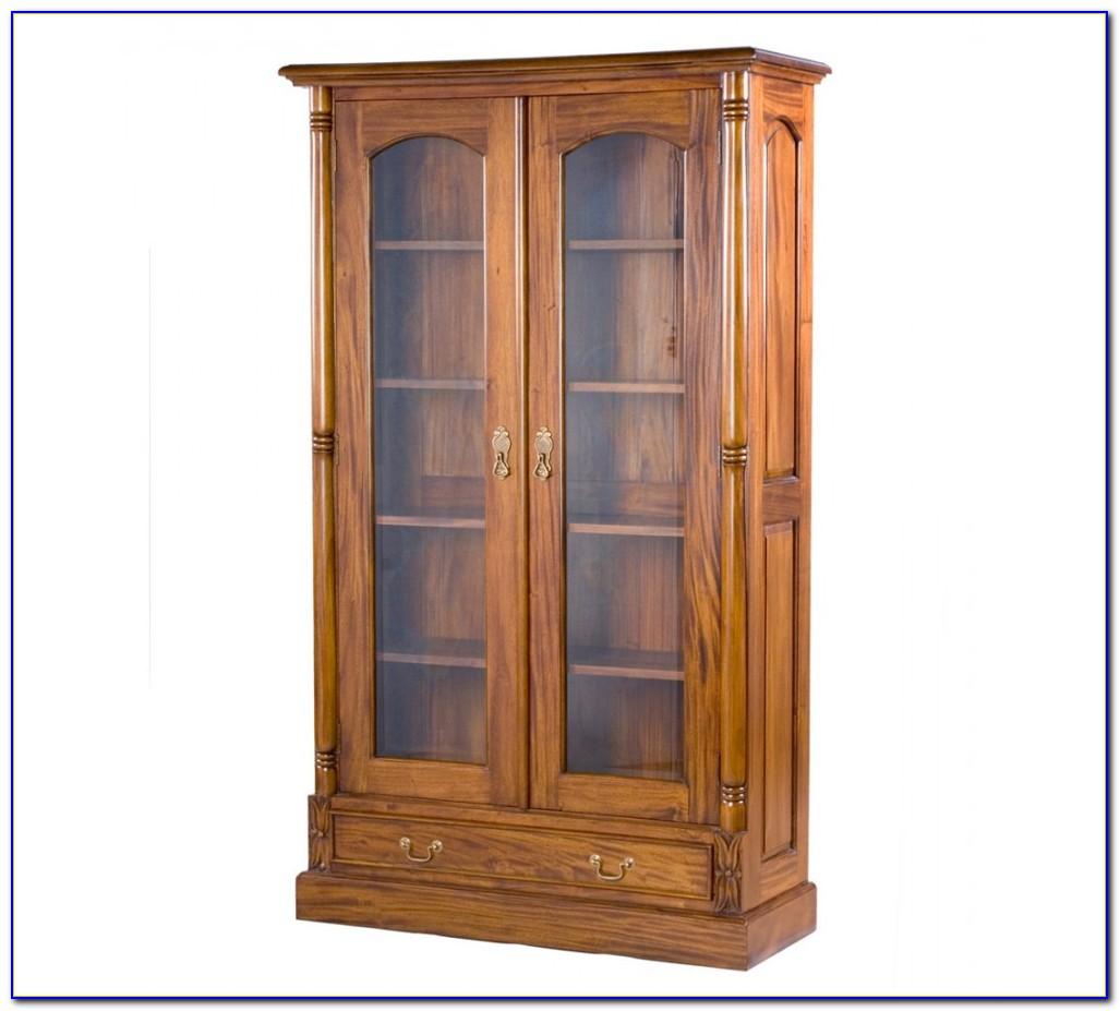 Light Oak Bookcase With Doors