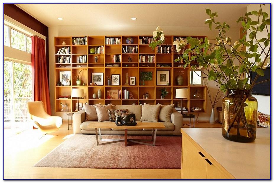 Living Room Bookshelves Design