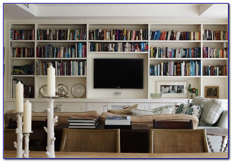 Living Room Wall Bookshelves