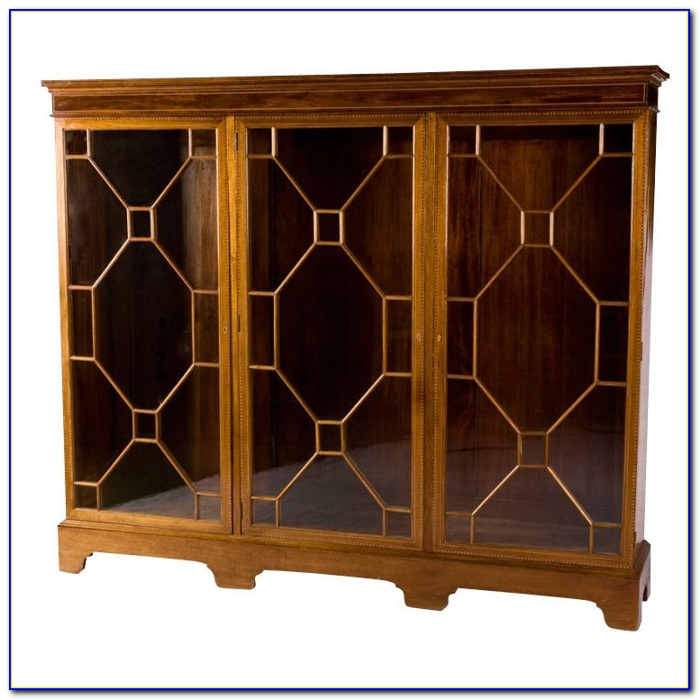 Lockable Glass Fronted Bookcases