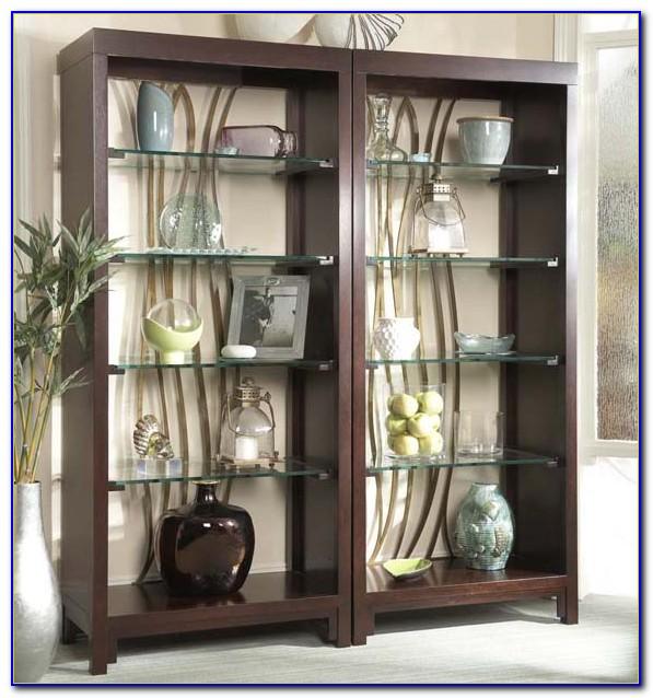 Logan Bookcase Glass Shelves