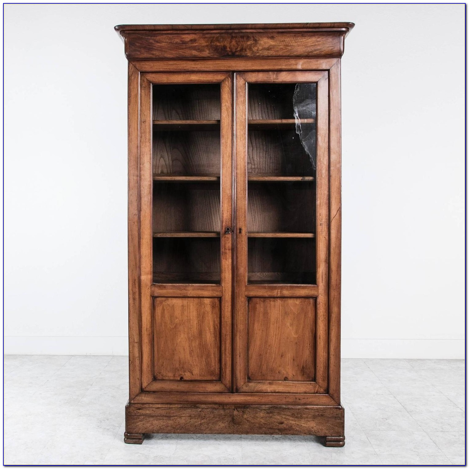 Louis Philippe Bookcase With Doors