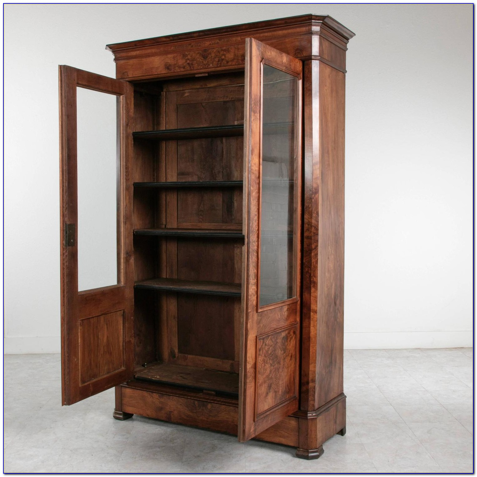 Louis Philippe Open Bookcase 48