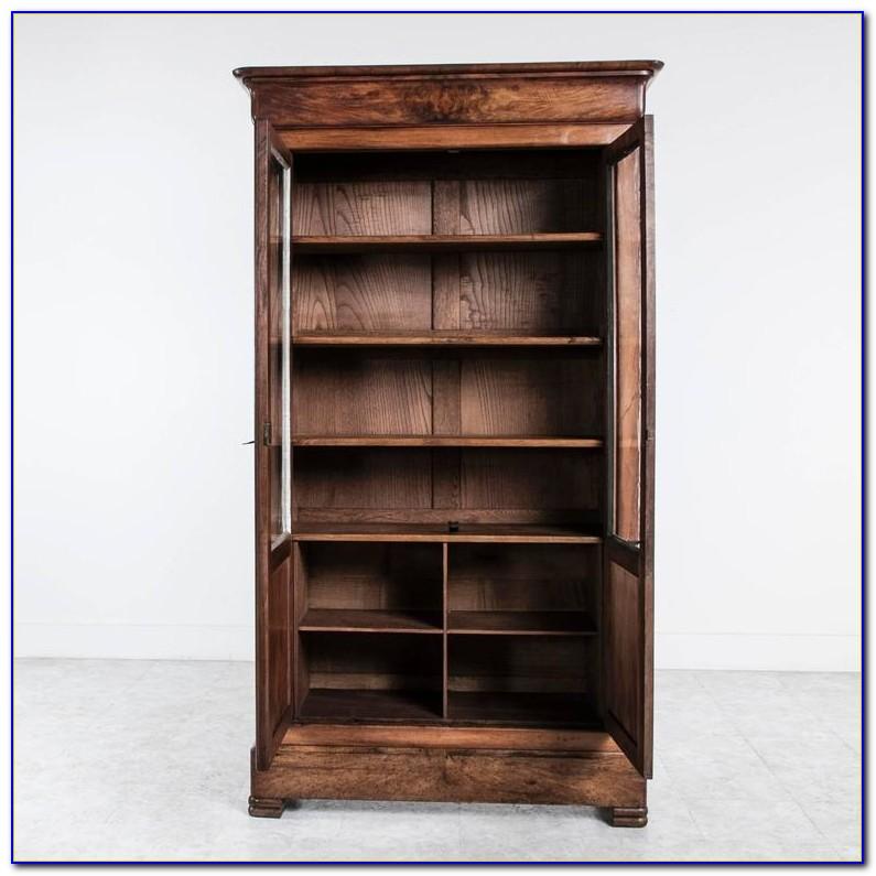 Louis Philippe Open Bookcase Cherry