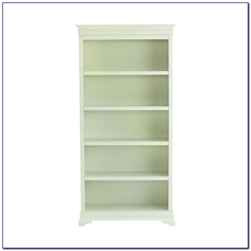 Louis Philippe Open Bookcase White
