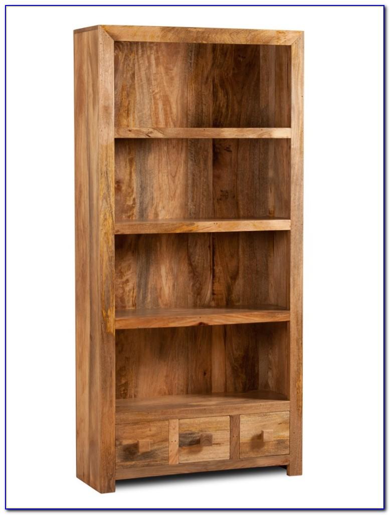 Mango Wood Bookcase With Drawers