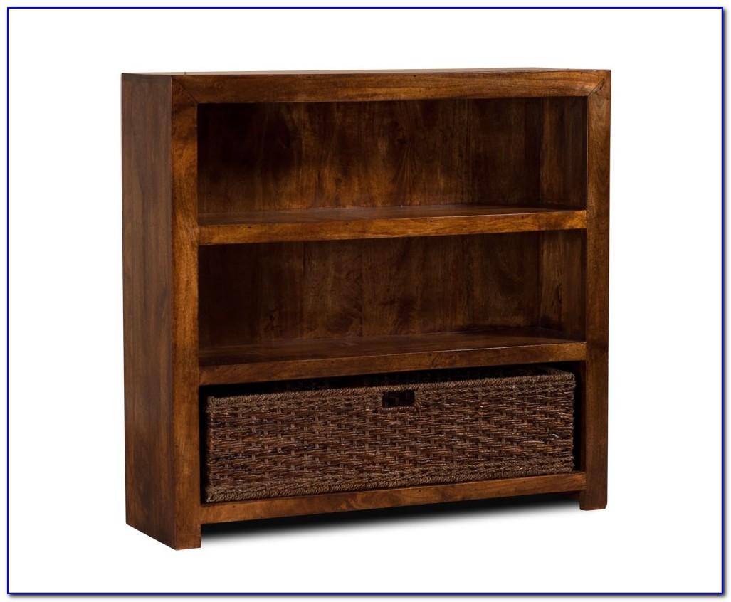 Mango Wood Corner Bookcase